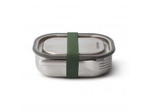 31253 nerezovy black blum steel lunch box 600ml zeleny