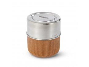 31751 5 cestovni sada s vnitrni sklenenou miskou black blum glass lunch pot almond
