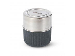 31754 5 cestovni sada s vnitrni sklenenou miskou black blum glass lunch pot slate