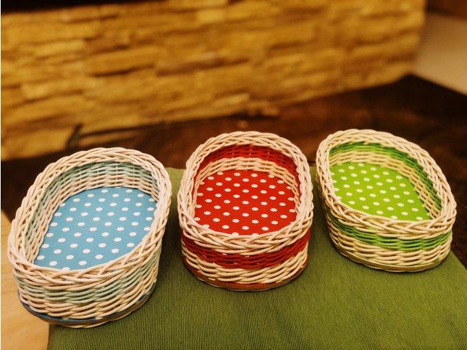 kosiky tri farby bodkovane