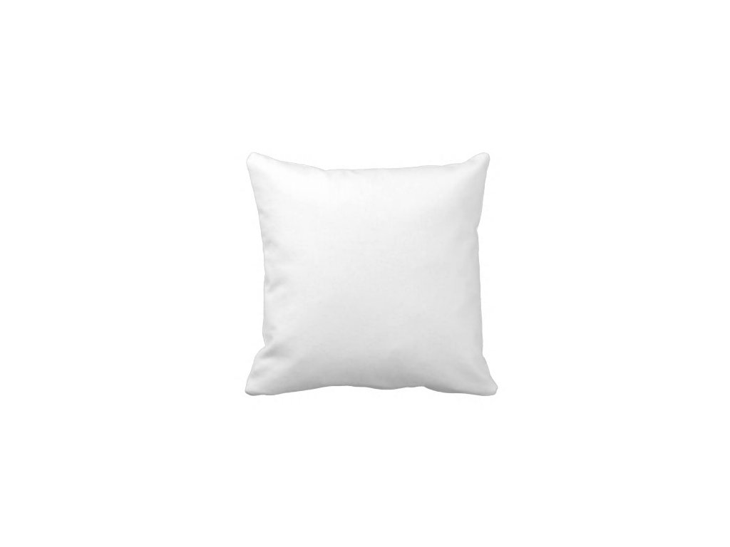 Polštář bílý,  40x40 cm