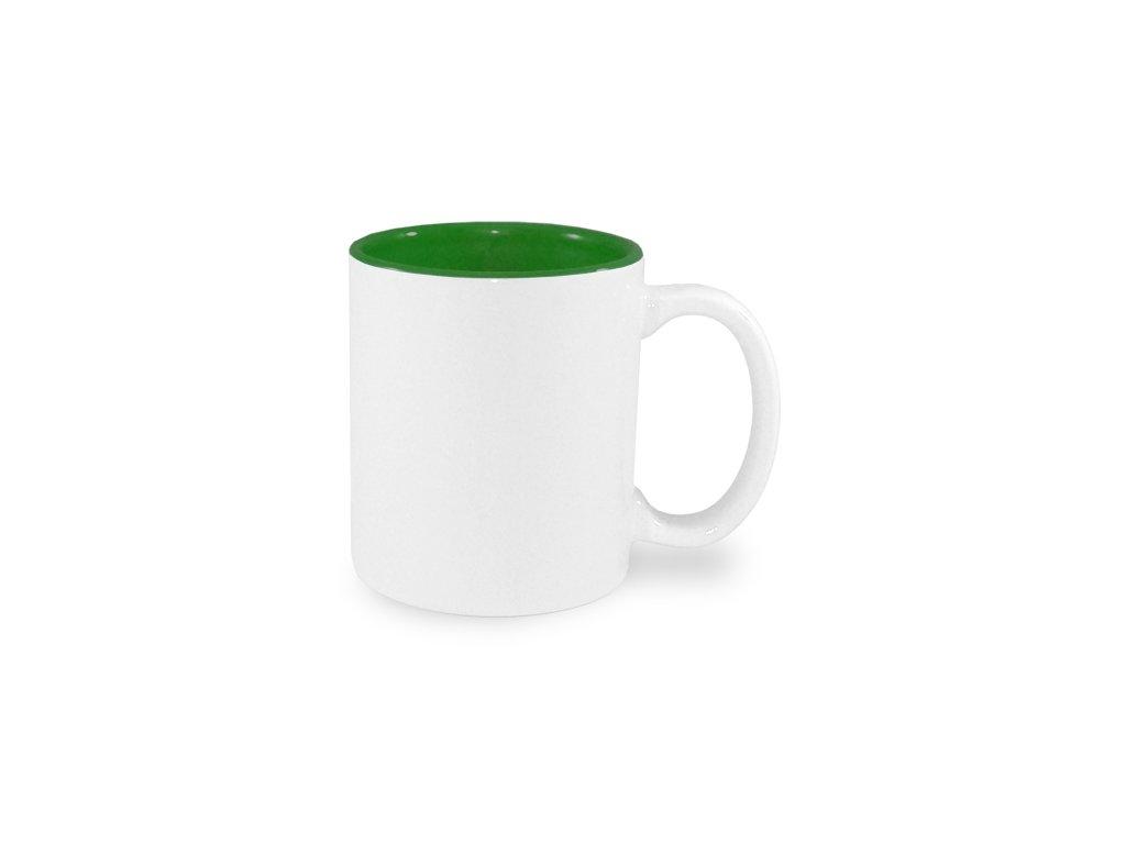 Hrnek se zeleným vnitřkem 0,33 l