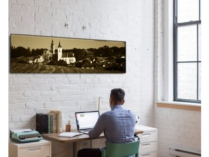 Panoramatický fotoobraz na plátně, sépie - NaPlatne.cz
