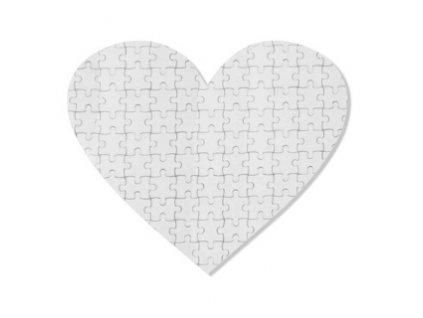 Puzzle srdce 19x18 cm 76 dílků