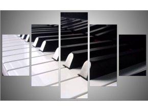 Pětidílný fotoobraz 150x95 klavír
