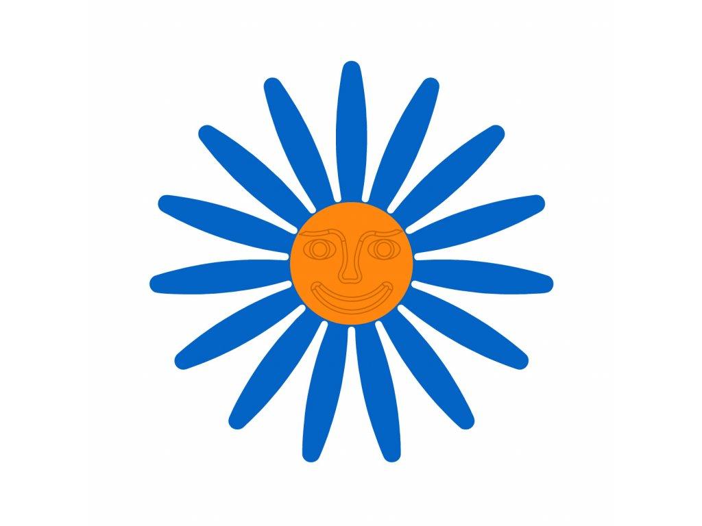 modra oranzova tvar