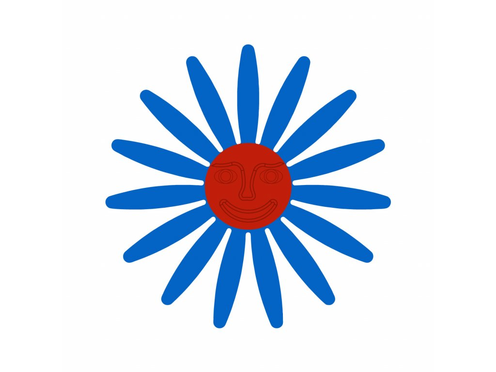 modra cervena tvar