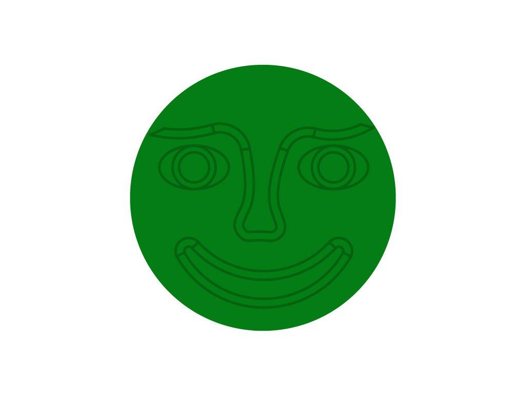 stred zeleny tvar