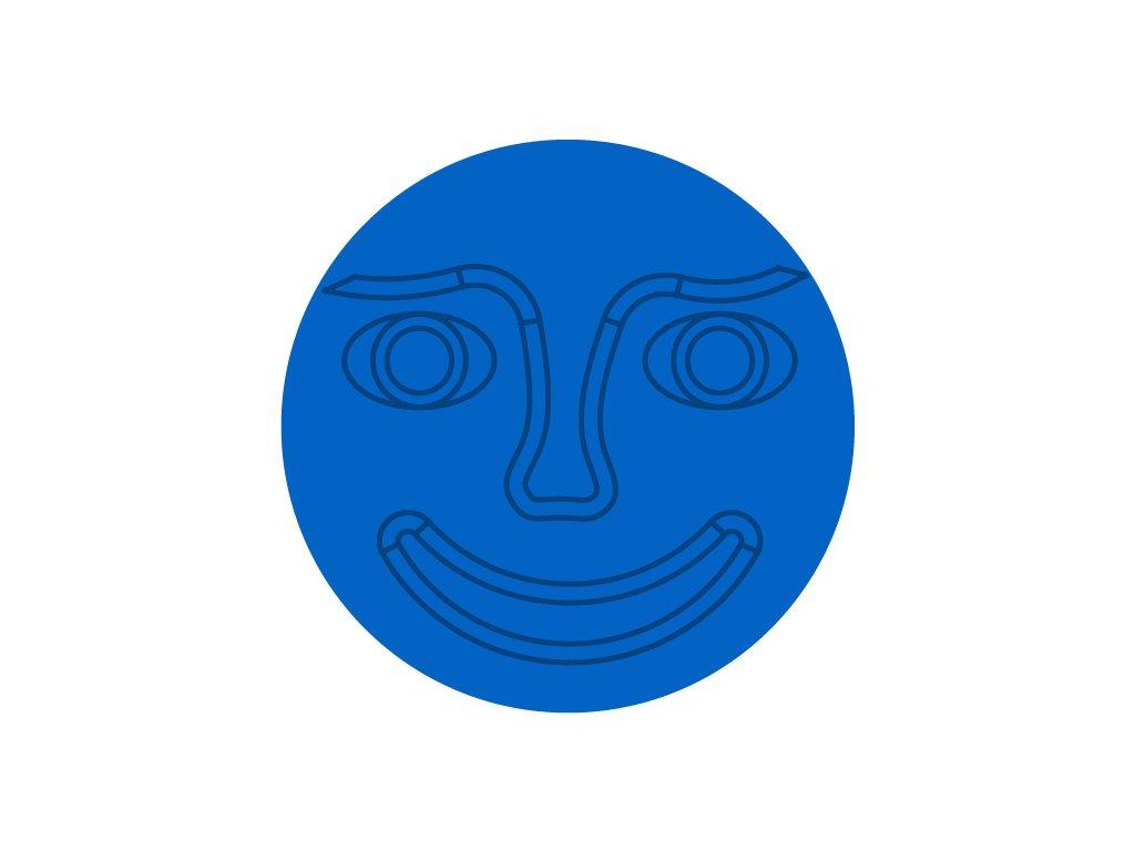 stred modry tvar