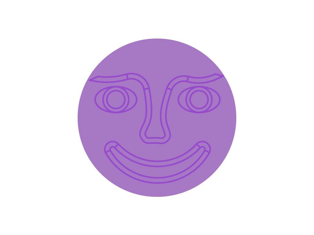 stred fialovy tvar