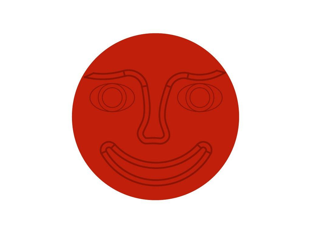 stred cerveny tvar