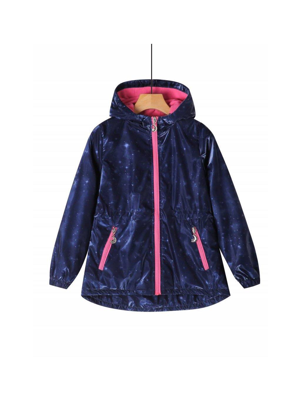 Dívčí bunda větrovka GFY-2623 s hvězdami