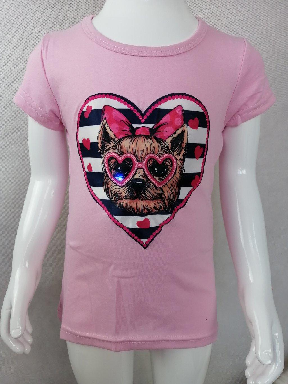 Dívčí tričko G 52632 s čivavou - blikající