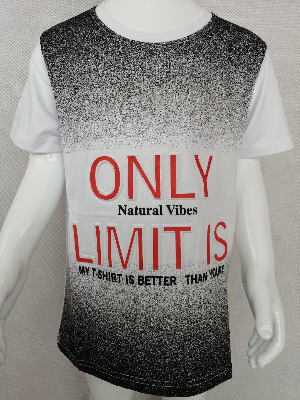 Chlapecké tričko B 67123 s nápisem Only Limit is