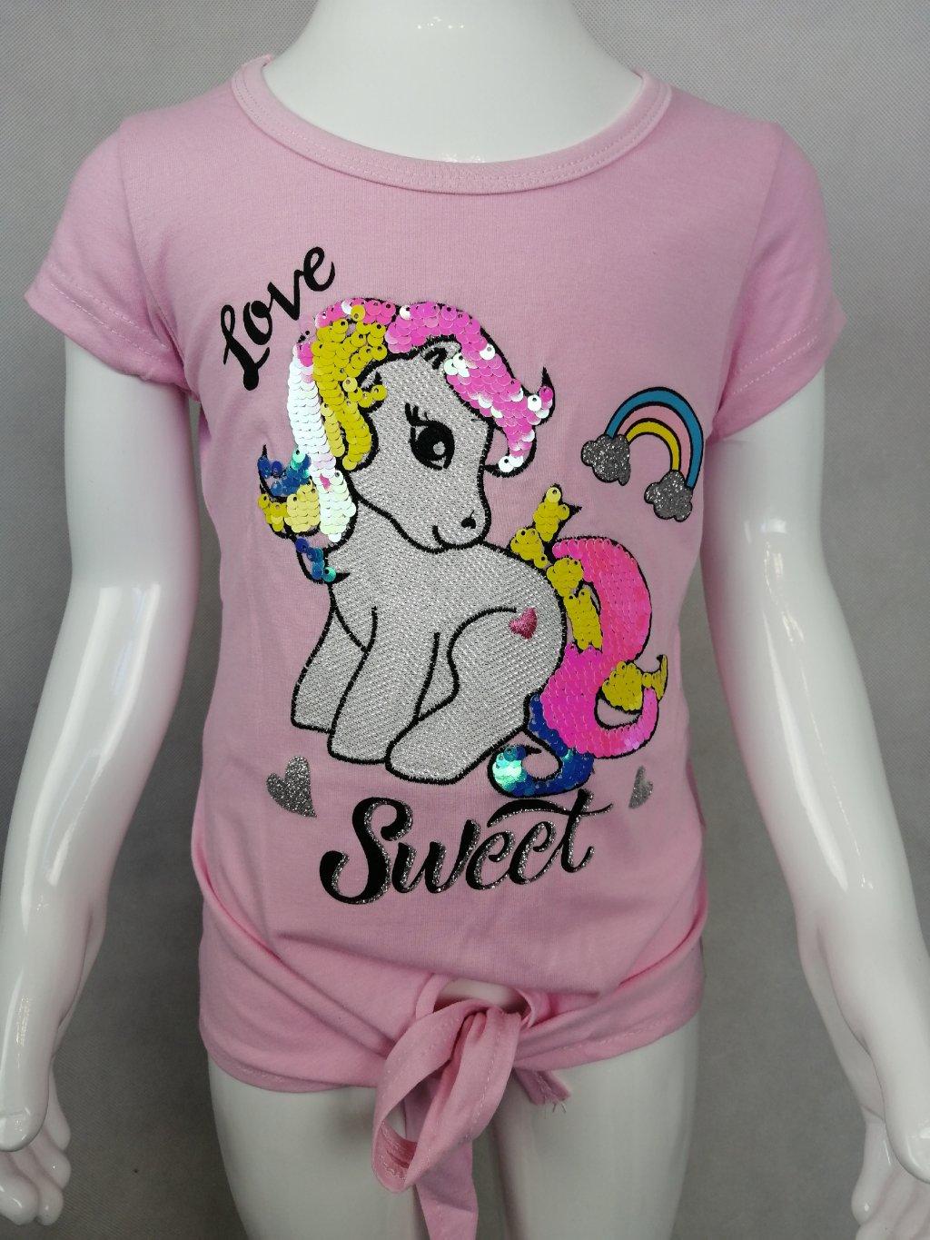 Dívčí tričko G 52637 s motivem koníka