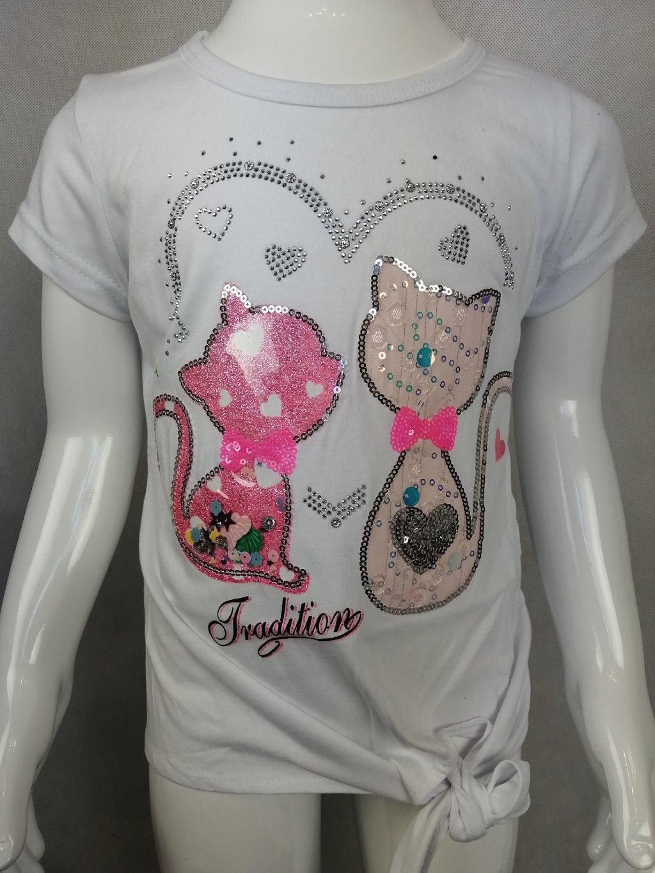 Dívčí tričko G 52641 s kočičkami