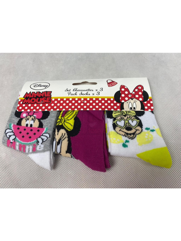 Dětské ponožky UE0600 Disney minnie 3 ks.