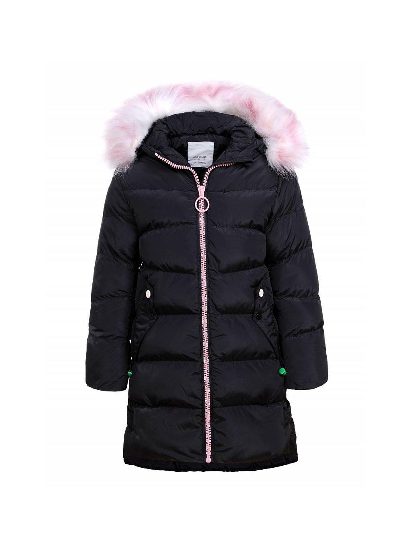 Prodloužená dívčí bunda s kožíškem GMA-1376
