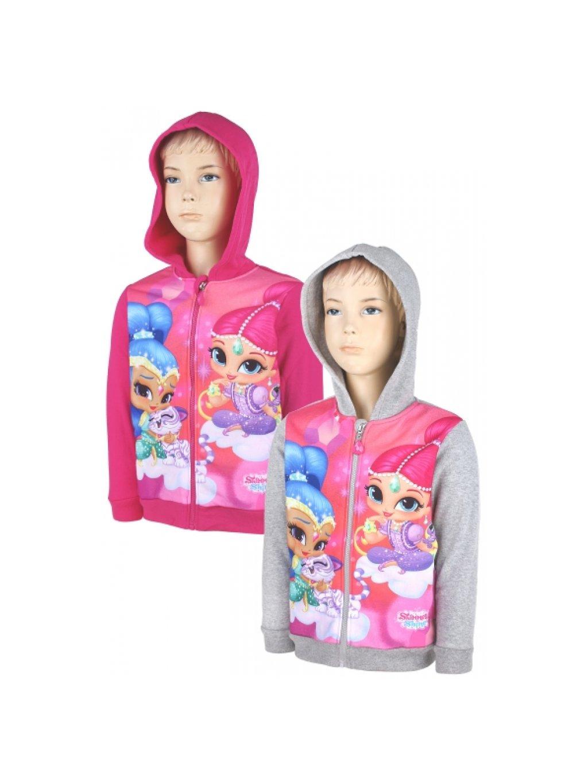 Dívčí mikina 991-190 Shimmer *Shine na zip s kapucí