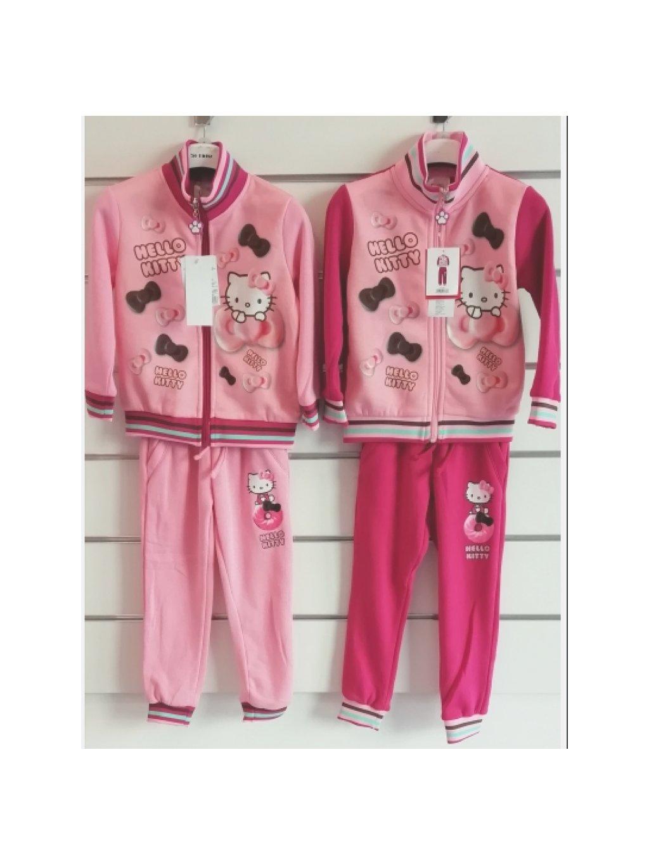 Dívčí souprava 991-369 Hello Kitty mikina zip + tepláky