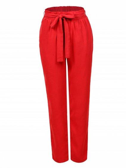 Kalhoty s mašlí WSK-1019 GLO-STORY - červené