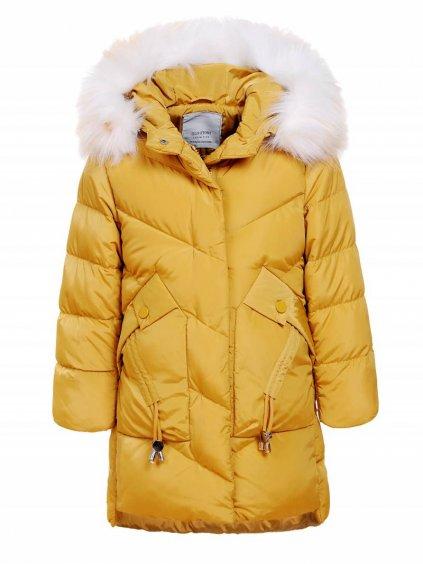 Prodloužená dívčí bunda s kožíškem GMA-1373