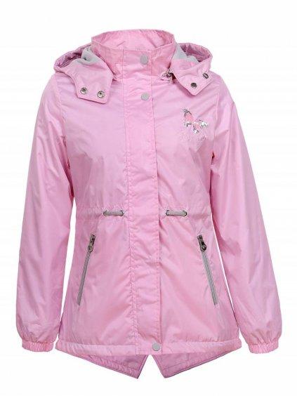 Dívčí bunda Butterfly GFY-1657 - světle růžová