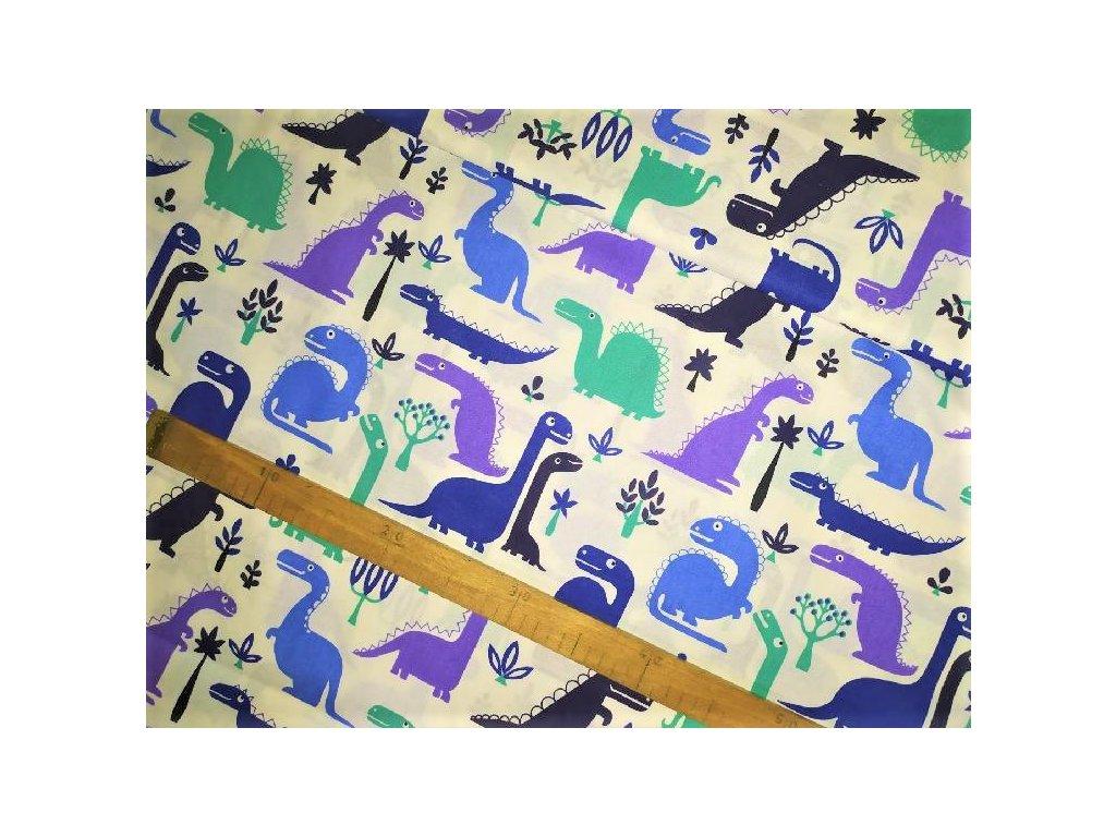 metraz bavlnene platno dinosauri Dino