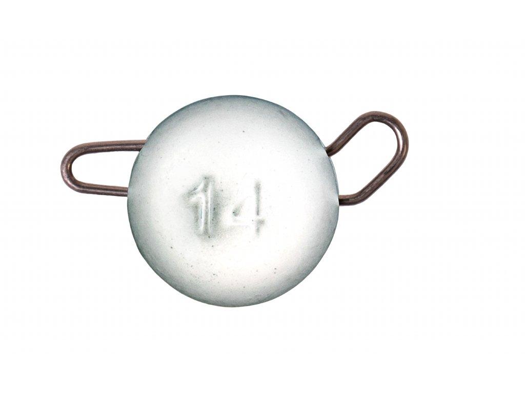 ZECK Tungsten Cheburashka Head White 10g |2 pcs
