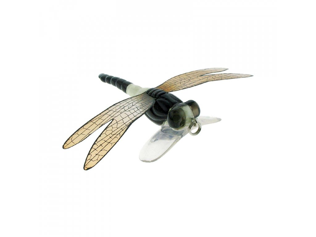 imitace vážky - River2Sea Dragonfly Popper (White Black)