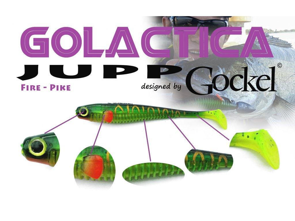 Gumová nástraha - JUPP Golactica (FirePike) – 125mm