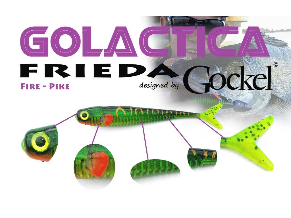 Gumová nástraha - FRIEDA Golactica (Fire Pike) – 110mm
