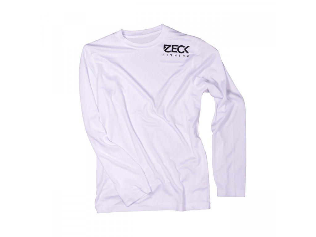 Přívlačové triko – ZECK Longsleeve UV-Cool White