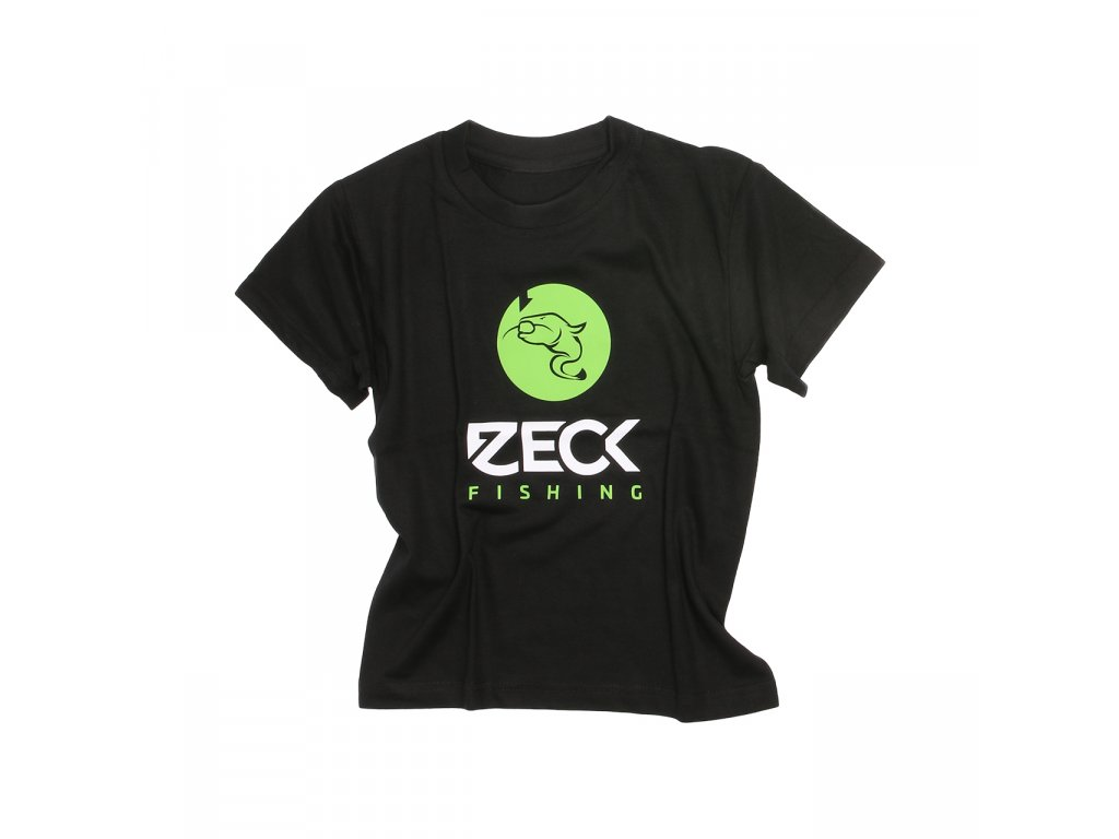 zeck fishing kid t shirt black catfish 170306dd