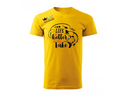 žluté triko předek TOP