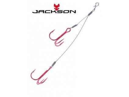 Pomocný trojháček - Jackson Easy Stinger (dvojitý) pro nástrahu 125mm