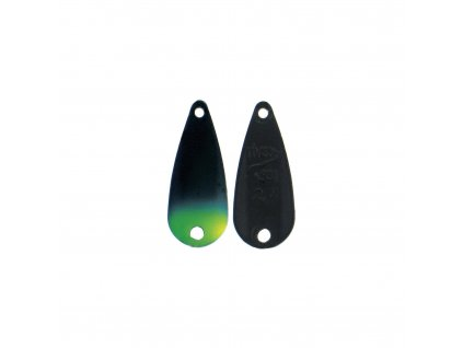 wolframová plandavka River2Sea TT-Spoon - 2,4g/22mm (Black/Yellow Tip)