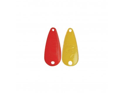wolframová plandavka River2Sea TT-Spoon - 2,4g/22mm (Red Bright Yellow)