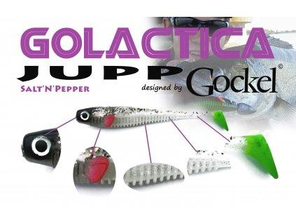 Gumová nástraha - JUPP Golactica (Salt´n Pepper) – 125mm