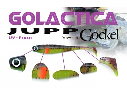 Gumová nástraha - JUPP Golactica (UV Perch) – 125mm
