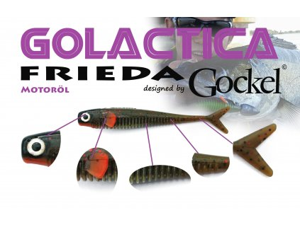 Gumová nástraha - FRIEDA Golactica (Motoroil) – 110mm