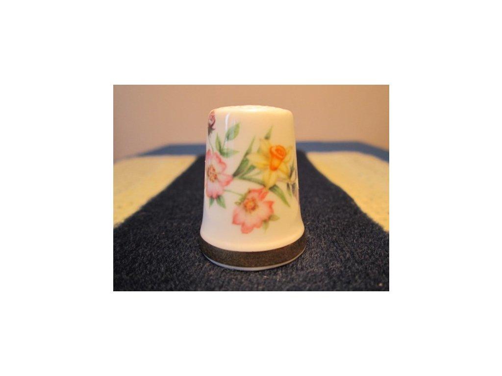 Sběratelský náprstek - Royal Albert England - Princ William - prvorozený, s květy