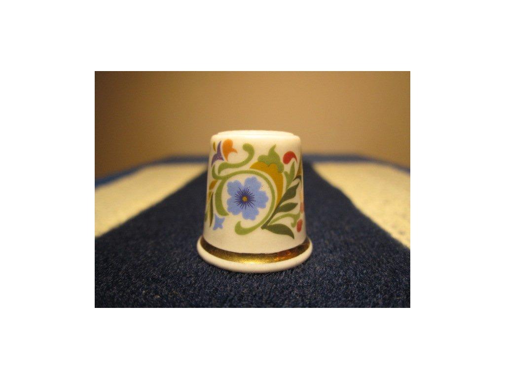 Sběratelský náprstek - Avon USA, květinová dekorace