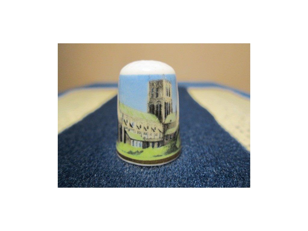Sběratelský náprstek - Victoria England, Anglie - Worcester Cathedral, se znakem