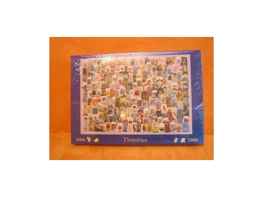 Puzzle s obrázky náprstků, v originálním balení, nerozbaleno