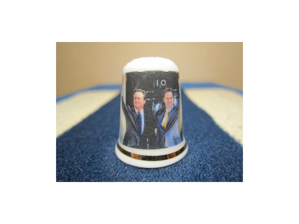 Sběratelský náprstek - TTG Anglie volby 2010 - David Cameron a Nick Clegg