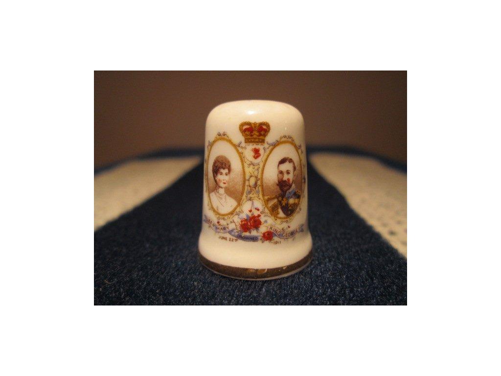 Sběratelský náprstek - Král George V. a Královna Marie, St. George