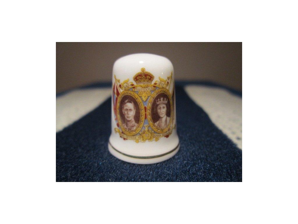 Sběratelský náprstek - Král George VI. a Královna Alžběta, St. George