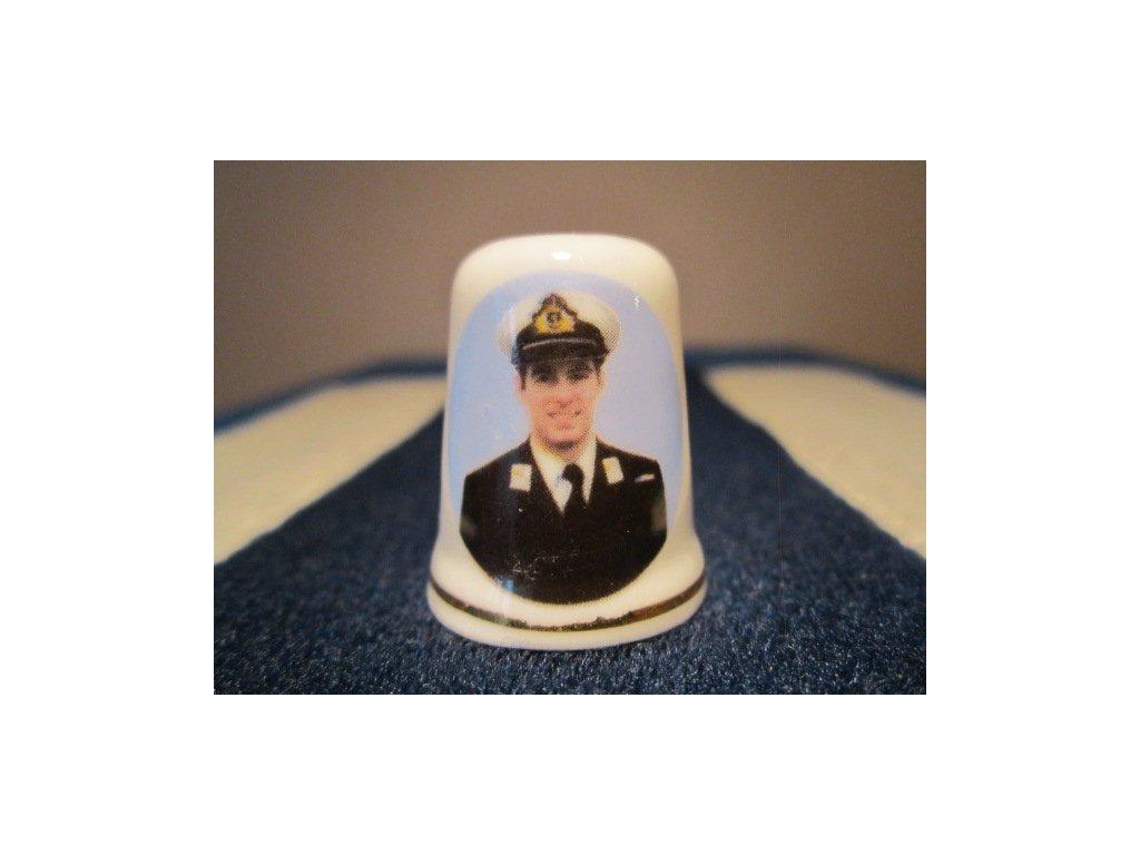 Sběratelský náprstek - Princ Andrew v uniformě, St. George