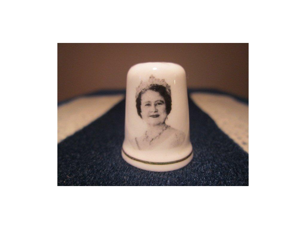 Sběratelský náprstek - Královna Alžběta - Královna matka, 63 let, St. George